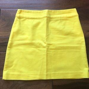Ann Taylor loft yellow skirt size 8 - euc